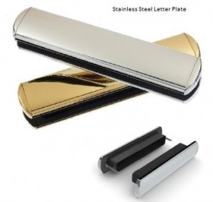 Stainless letter plate
